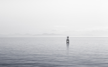 sea-black-and-white-ocean-moored-buoy